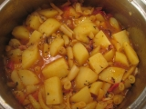 Dusené zemiaky s fazuľkami