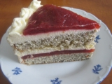Slivková torta s makovou piškótou