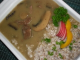 Hovädzie mäso s hubami /Hovězí maso s houbami