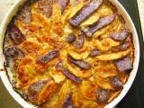 Gratinovaná kvaka s fialovými zemiakmi