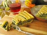 Makarónová torta so špenátom a gorgonzolou