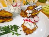 Tekvicovo zemiakove placky a reďkovkový dip