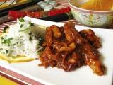 wok - prazene zazvorove kura