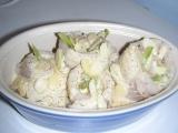 biela ryba na mandliach