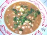 Cícerová polievka so stopkatým zelerom