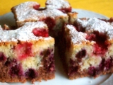 Dvojfarebný ovocný koláč