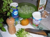 Hrášková polievka s mätou