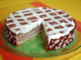 Jablková torta s kakaovou mriežkou
