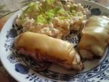 Kurací rolovaný plátok so slaninou, zázvorom a údeným syrom