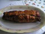 Morčacia roláda s dusenou červenou kapustou