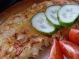 Omeleta s paprikou a cibuľou