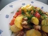 Opekané kuracie mäso so zemiakmi