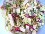 Pórový šalát s tofu