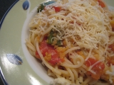 Špagety s červenou šošovicou