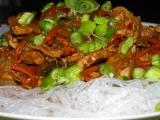 Thajská varianta hydinoveho mäsa / wok