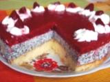 Tvarohová torta s makom