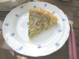 Tvarohový koláč so špenátom a pórkom