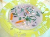 Vločková hubová polievka