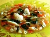 Zeleninová polievka s krupicovými haluškami