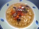 Zeleninová polievka so šampiňónmi