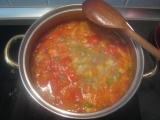 Zeleninová polievka so šunkou