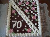 Orechová obdĺžniková torta  / Obdélníkový dort ořechový
