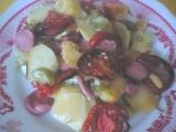 Zelenina zapečena s párkom