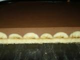 Banánový zákusok s čokoládovou penou