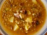 Hŕstková polievka s údeným