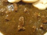 Hovädzia pečienka s porom a hubami /Hovězí játra s pórkem a houbami