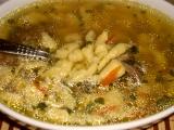 Hovädzia polievka z haluštičkami /Hovězí polévka s nočky