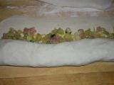 Karfiólový závin s pórom a šunkou /Květákový závin s pórkem a šunkou