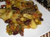 Kuracie pečienky so zeleninou /Kuřecí játra se zeleninou