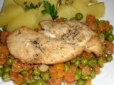 Kuracie prsia s mrkvou a hráškom /Kuřecí prsa s mrkví a hráškem