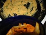 Kuracie s kalerábovými hranolkami v jemnej petržlenovej omáčke.