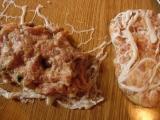 Placičky v tukové bláně s houbami