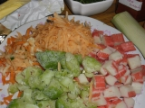 Polievka z tyčiniek Surimi /Polévka ze Surimi tyčinek se zeleninou