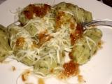 Špenátovo-zemiakové knedlíky so syrom