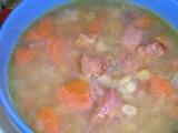 Hŕstková polievka s údenou krkovičkou