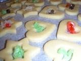 Vianočné sušienky s vitrážkou