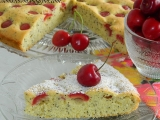 Čerešňový koláč s makom