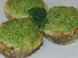 Diétne morčacie košíčky s brokolicovou náplňou