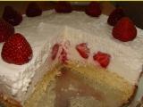 Jahodovo-kokosová torta /Jahodo-kokosový dort