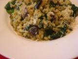 Krémové risotto so špenátom a hubami