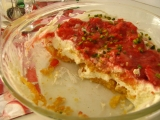 Krémový dezert  s rebarborou