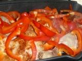 Kuře pečené na paprice a s paprikou
