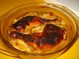 Pečené kura  so zemiakmi v osviežujúcej cmarovej omáčke