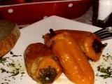 Plněné papriky s houbami