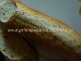 Pšeničné kváskové bagety s ľanovým semienkom /Pšeničné kváskové bagety se lněným semínkem