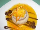 Škoricová panna cotta s pomarančem
